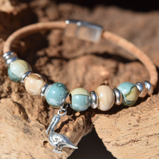 Pelican Sterling Silver and Cork Bracelet | Nature Jewelry | CTD-B85-4