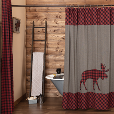 Cumberland Moose Shower Curtain | VHC Brands | 51205