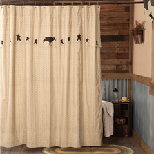 "Crow Shower Curtain ""Kettle Grove"" 