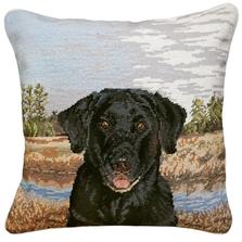 Good Boy Needlepoint Down Throw Pillow | Michaelian Home | MICNCU962SD
