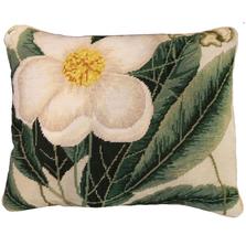 Cherokee Rose Needlepoint Down Pillow | Michaelian Home | MICNCU412SD