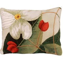 Dogwood Needlepoint Down Pillow | Michaelian Home | MICNCU413SD