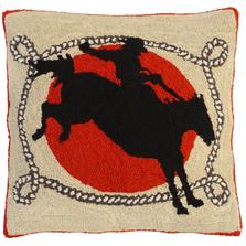 Ride Em Hooked Down Throw Pillow | Michaelian Home | MICNCU952SD