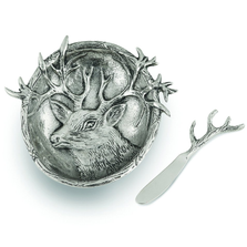 Lakeside Deer Aluminum Dip Dish with Spreader | Star Home Designs | 41934