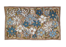 "Big Beautiful Flowers Cotton Hooked Rug ""Camp Wildflower"" | Michaelian Home | MICH714"