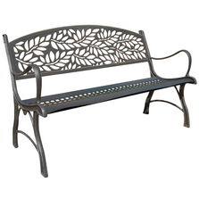 Butterfly Cast Iron Garden Bench | Painted Sky | PB-IFL-100BR