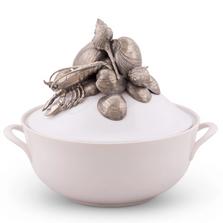Crab & Clam Sea Life Soup Tureen | Vagabond House | O308