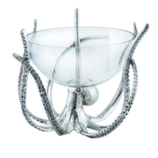 Octopus Aluminum and Glass Bowl with Stand   Star Home Designs   42129