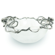 Octopus Aluminum and Glass Serving Bowl | Star Home Designs | 41924