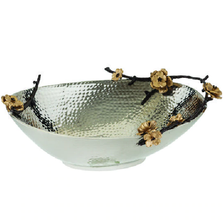 Wild Blossom Aluminum Oval Centerpiece Bowl | Star Home Designs | 40262