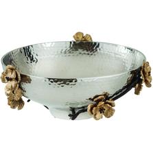 Wild Blossom Aluminum Serving Bowl | Star Home Designs | 40261
