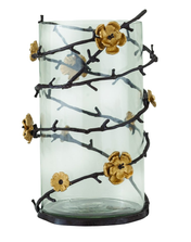 Wild Blossom Tall Hurricane Glass Candleholder | Star Home Designs | 40271