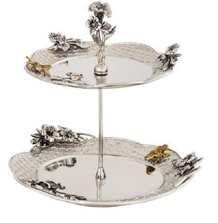 Bumble Bee Aluminum 2 Tier Serving Stand | Star Home Designs | 42293