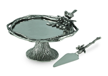 Birds and Branches Aluminum Cake Plate | Star Home Designs | 41233