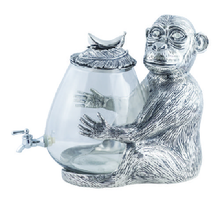 Monkey Aluminum and Glass Beverage Dispenser | Star Home Designs | 42134