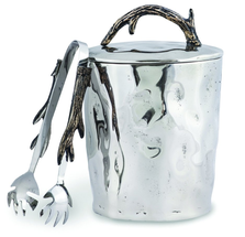 "Antler Aluminum Ice Bucket with Tong ""Woodland"" 