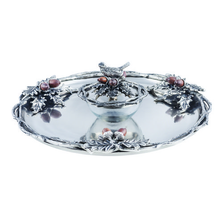 "Bird and Acorn ""Home For The Holidays"" Aluminum Chip and Dip Tray 