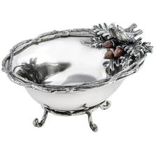 "Bird and Acorn ""Home For The Holidays"" Aluminum Centerpiece Bowl | Star Home Designs | 42161"