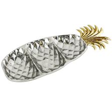 Pineapple 3 Section Aluminum Serving Tray | Star Home Designs | 42196