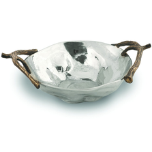 "Antler Aluminum Serving Bowl ""Woodland""