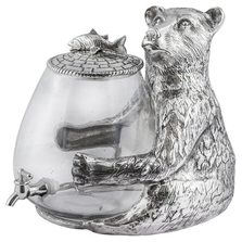 "Bear Aluminum and Glass Beverage Dispenser ""Lakeside"" 