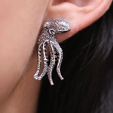 Octopus Sterling Silver Post Earrings | Kabana | SE183