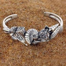 Shell Sterling Silver Cuff Bracelet | Kabana Jewelry | Kbr347