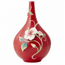 Island Beauty Hibiscus Porcelain Vase | FZ03730 | Franz Collection