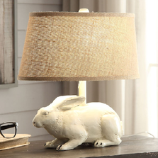 White Bunny Table Lamp | Crestview Collection | CVCCVATP591W