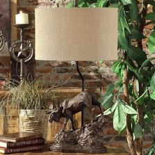 Moose Trail Table Lamp  | Crestview Collection | CVCCVAVP877