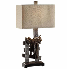 Saddle Table Lamp | Crestview Collection | CVCCVAVP160