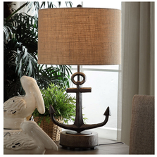 Wharf Anchor Table Lamp  | Crestview Collection | CVCCVAER1248