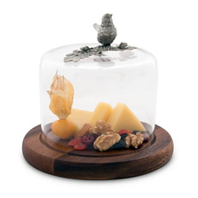 Song Bird Cheese Board with Glass Dome | Vagabond House | VHCK236SB -2