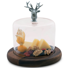 Elk Cheese Board with Glass Dome  | Vagabond House | VHCB236EK-2