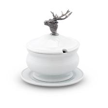 Elk Stoneware Covered Bowl | Vagabond House | VHCA326EK -3