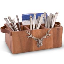 Elk Wooden Flatware Caddy | Vagabond House | VHCB464EK -2