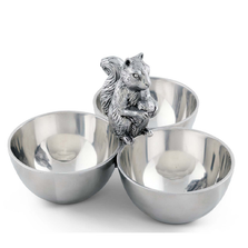 Squirrel 3-Bowl Server | Arthur Court Designs | ACD114L12