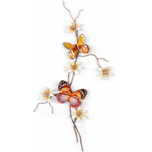 Bovano Forest Queen and Yellow Satyr Butterfly Wall Art | W162