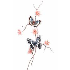 Bovano Citrus Swallowtail and Blue Eyemark  Butterfly Wall Art | W160