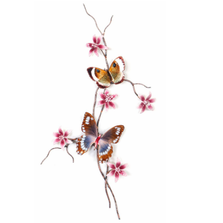 Bovano Island Swallowtail and Gold Eyemark Butterfly Wall Art | W161