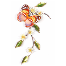 Bovano Forest Queen Butterfly with Asters Wall Art | W153