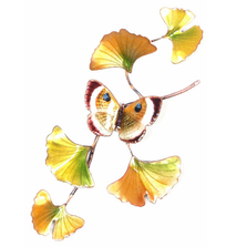 Bovano Gold Eyemark on Ginkgo Branch Butterfly Wall Art | W142