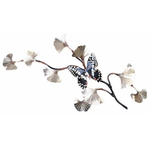 Bovano Citrus Swallowtail on SS Ginkgo Branch Butterfly Wall Art | W131SS