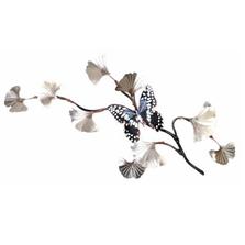 Bovano Citrus Swallowtail on SS Ginkgo Branch Butterfly Wall Art | W131SS