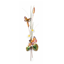 Bovano Forest Queen and Gold Eyemark with Daises Butterfly Wall Art | W7645