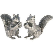 Pewter Squirrel Salt Pepper Shakers | Vagabond House | S116