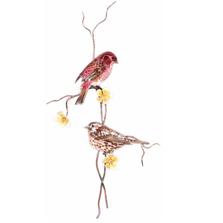 Bovano Purple Finch Pair Bird Wall Art | W4463