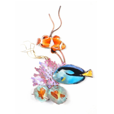 Bovano Anemone and Surgeonfish Fish Wall Art | W1674