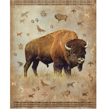 "Buffalo Faux-Fur Blanket ""Bison"" 