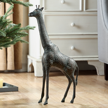 Giraffe Cast Iron Sculpture | SPI Home | 51095